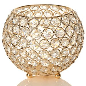 Gold Home Decor Crystal Candle