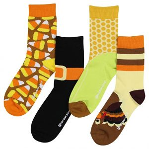 Womens Funny Funky Novelty Holiday Crew Socks