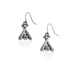 Baseball Bat Accessories Jewelry Dangle Earrings