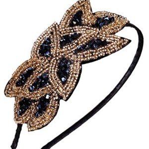 Hairband Hair Accessory, Black Gold