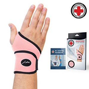 Ladies Pink Wrist Support