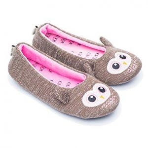 Womens Ballerina Fluffy Knit Scuff