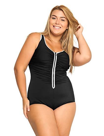 Zip Front Bathing Suits