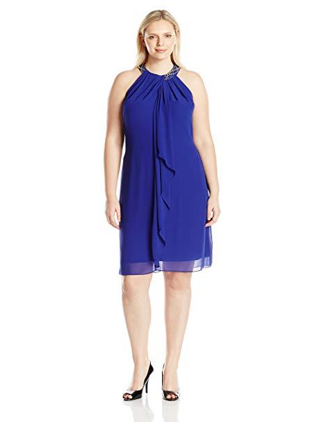 Jewel-Neck Dress