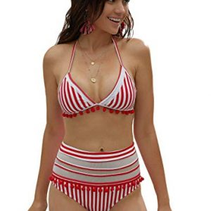 Striped Tassel Swimsuit