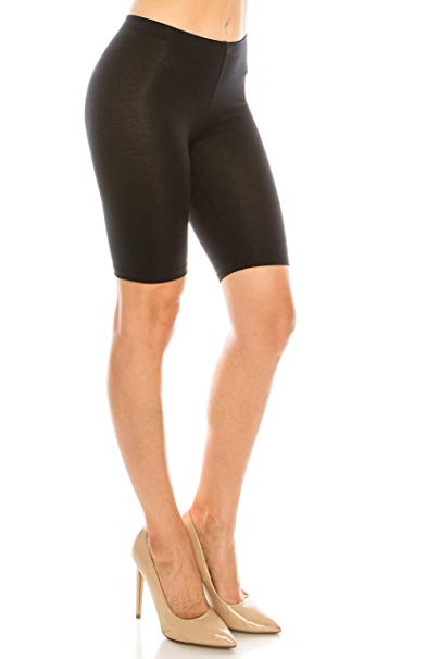 Womens Double Layer Athletic Yoga Shorts 2 in 1 Workout
