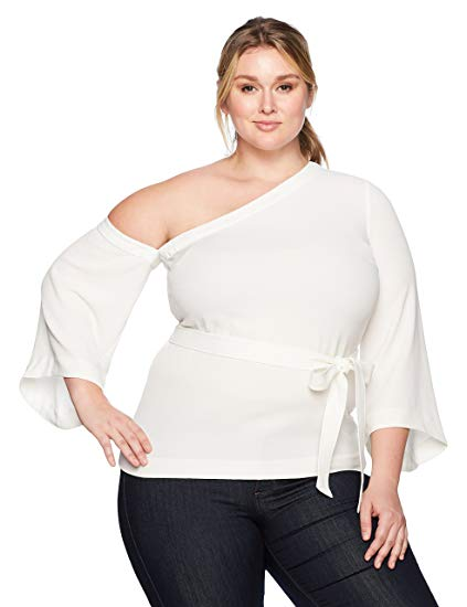 Plus Size Off Set Tie Top