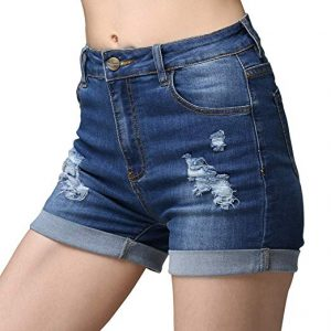 Waisted Jeans Shorts