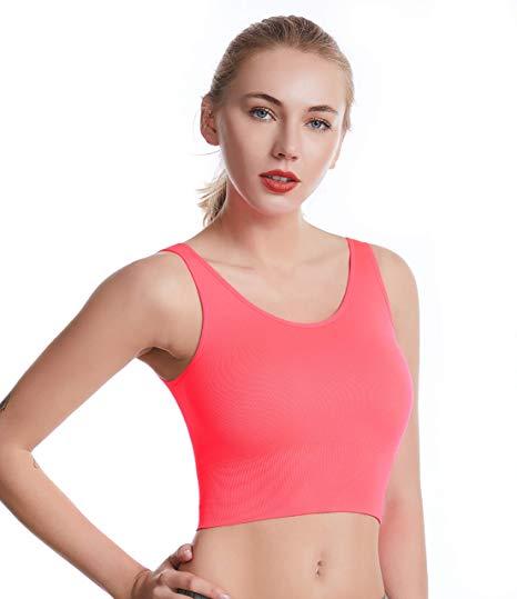 Medium Support Back Pocket Energy Sport Bra Cotton Feel