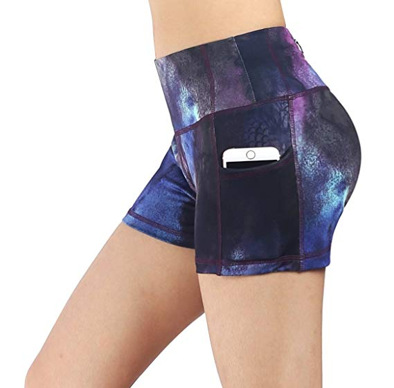 Workout Gym Yoga Sweat Short for Women with Pockets - WF