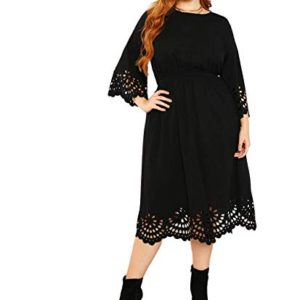 Scallop A-line Dress