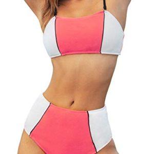 Color Block Bikini Sets