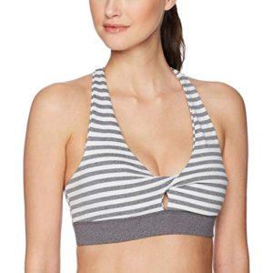 Yoga Twist Striped Bra