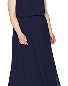 Pleated Column Dress