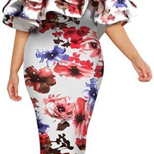 Floral Print Plus Size