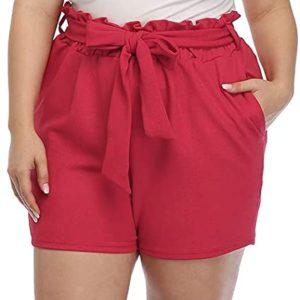 Casual Tie Waist Shorts