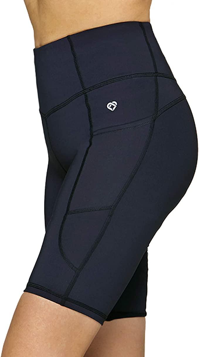 Womens High Waist Yoga Shorts - WF Shopping