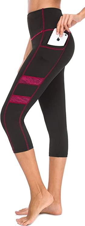 Tummy Control Yoga Pants with Pockets - WF Shopping
