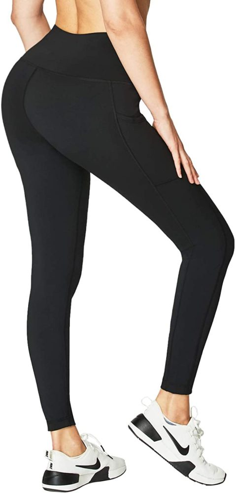 Womens High Waisted Yoga Pants Wish Pockets,Tummy Control