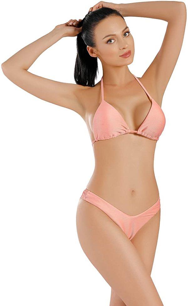 Bikini-Set - Ribbed Halter