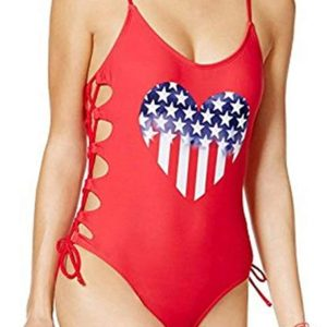 Lace-Up One Piece