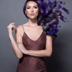 "Jazz Up Your Hair With  ""Oil Slick"" Effect"
