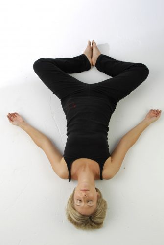 reclined butterfly pose