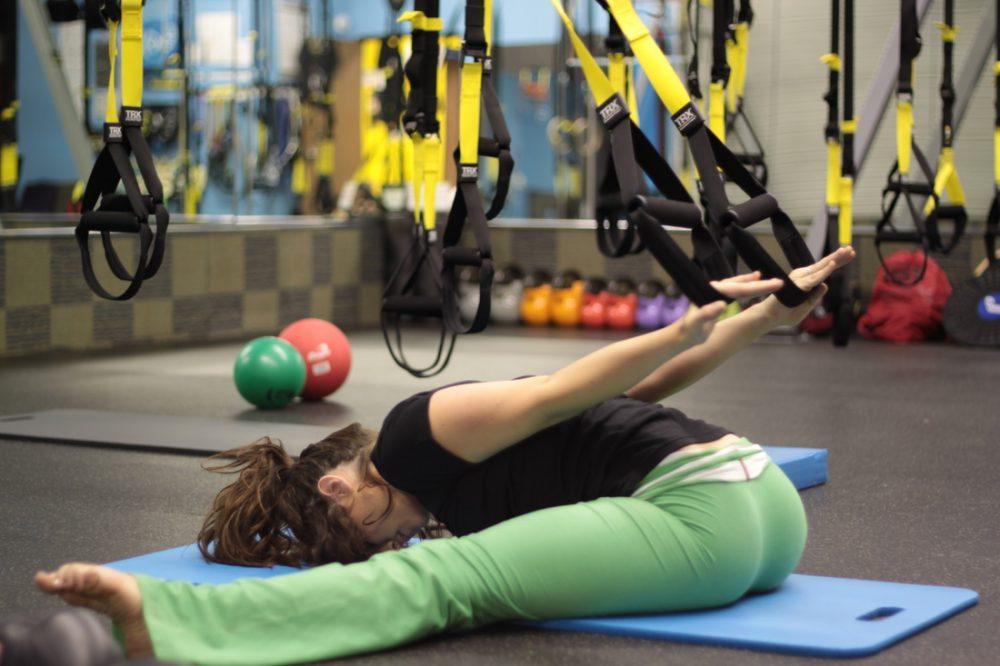 Suspension trainer yoga