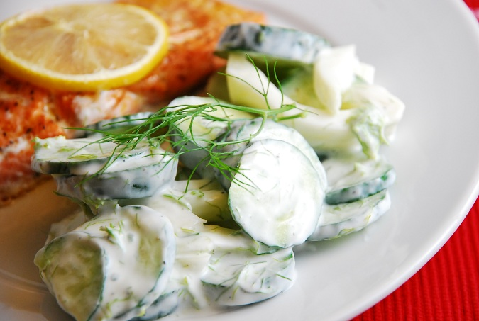 Cucumber and fennel salad