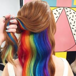 Rainbow #Underlights: Instagram's Latest Hair Obsession