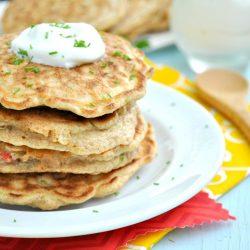 Bell Pepper & Corn Pancakes