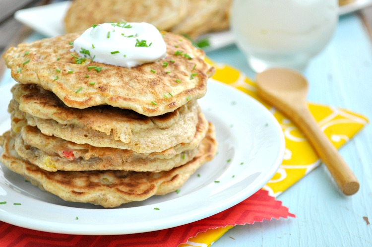 Bell Pepper & Corn Pancakes