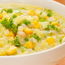 Corn And Scallop Soup
