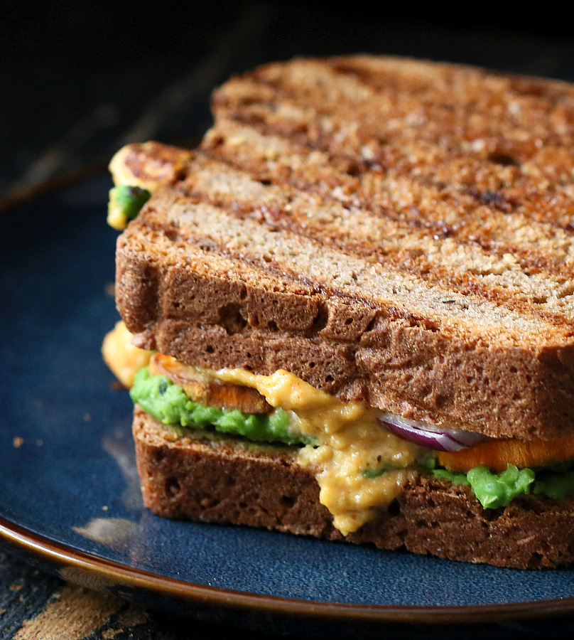 Potato Avocado Sandwich