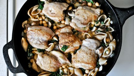Skillet Chicken with Kale