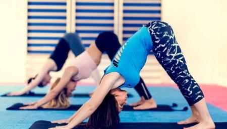 yoga poses skiers