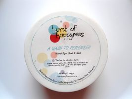 Burst Of Happiness A Wash To Remember Sugar Scrub & Wash with Raw Cocoa Butter & Mango Butter