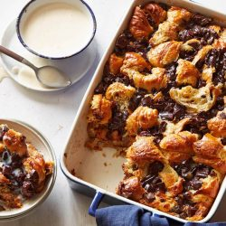 Cherry-Chocolate Bread Pudding