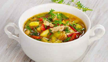 Quick Eight-Vegetable Soup