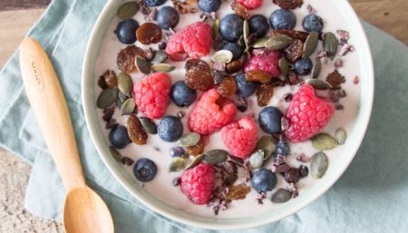 Raspberry Almond Muesli