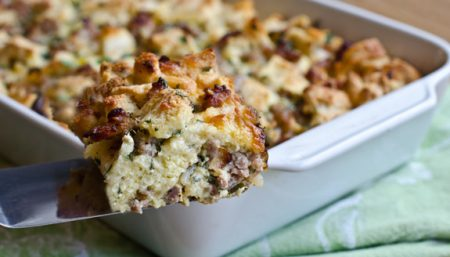 Cheese Bread Pudding