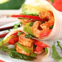Bajra-Shrimp Wrap