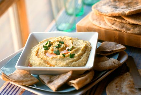 Whole Wheat Pita With hummus