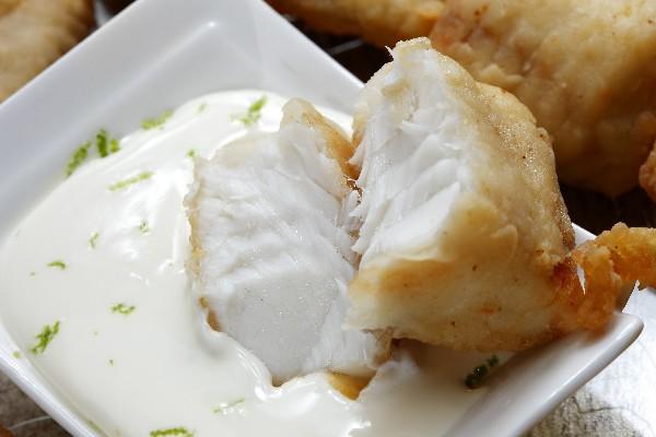 Broiled Tilapia with Mustard and Yogurt Sauce
