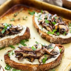 Cannellini Bean and Rosemary Toasts