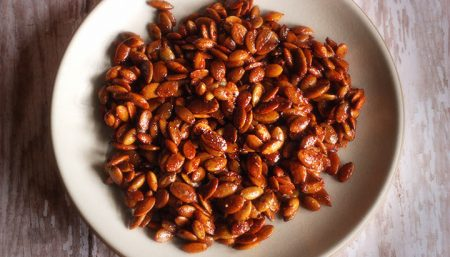 Sweet Hot Pumpkin Seeds with Autumn Spices