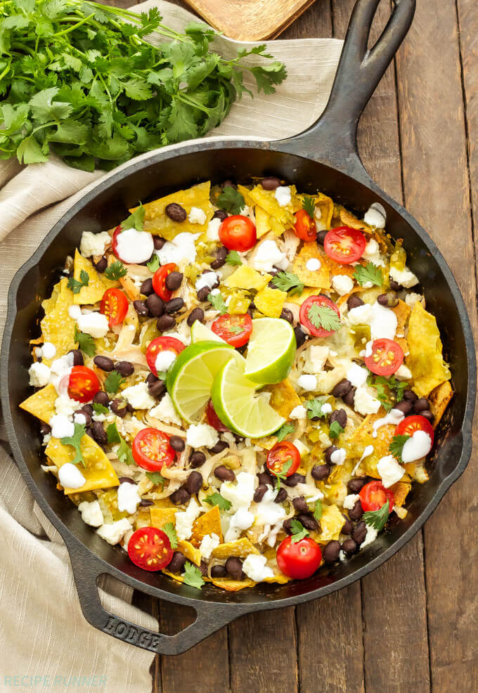 Chilaquiles with Beans and Corn