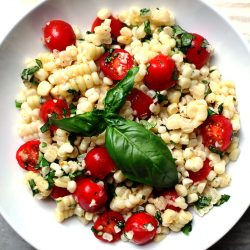Fresh Cherry and Corn Salad