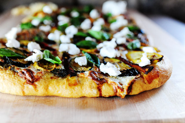 Grilled Pizza with Grilled Vegetables