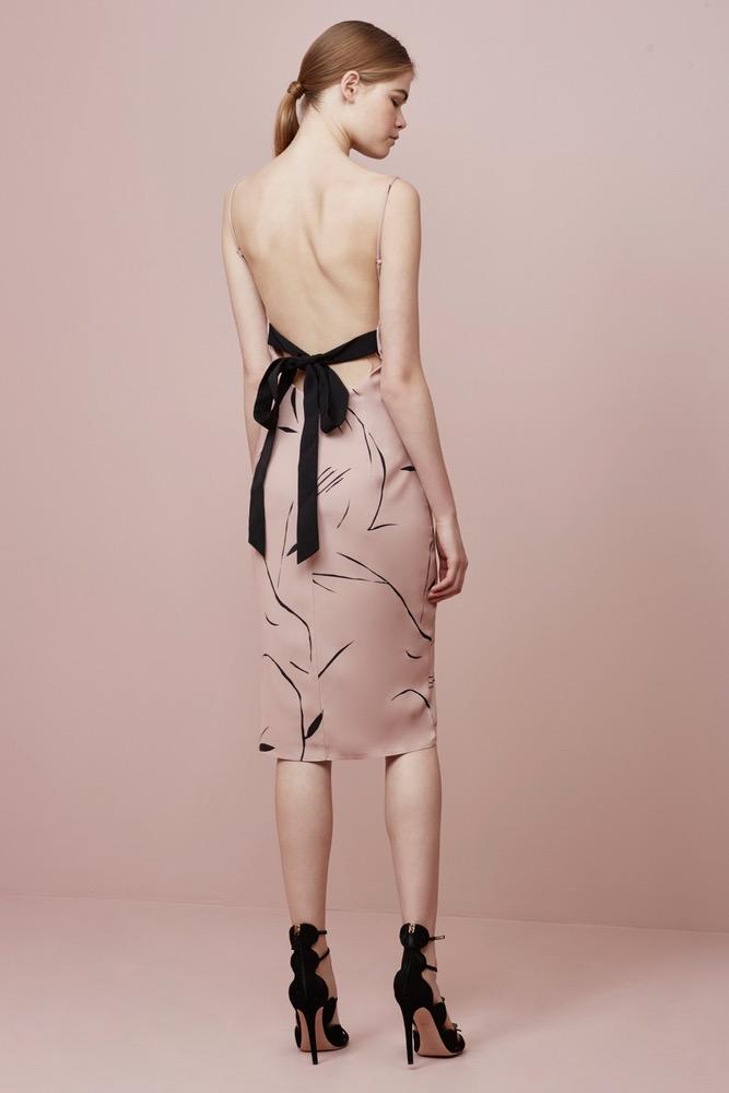 KEEPSAKE Stolen Dance Blush Pink Print Midi Dress